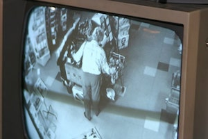 Store camera watches for shoplifting